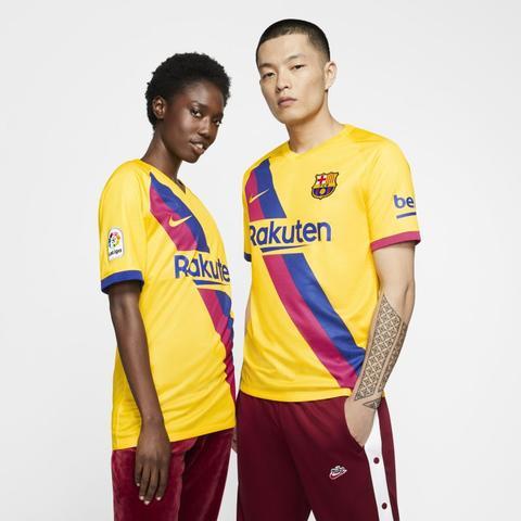 Fc Barcelona 2019/20 Stadium Away Camiseta De Fútbol - Amarillo de Nike en 21 Buttons