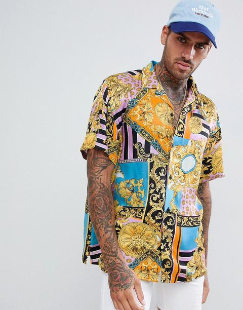 Camisa Extragrande Con Estampado Barroco De Inspiración Vintage De Asos Design