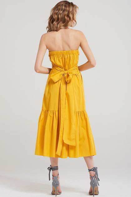 Julia Long Top Dress-yellow