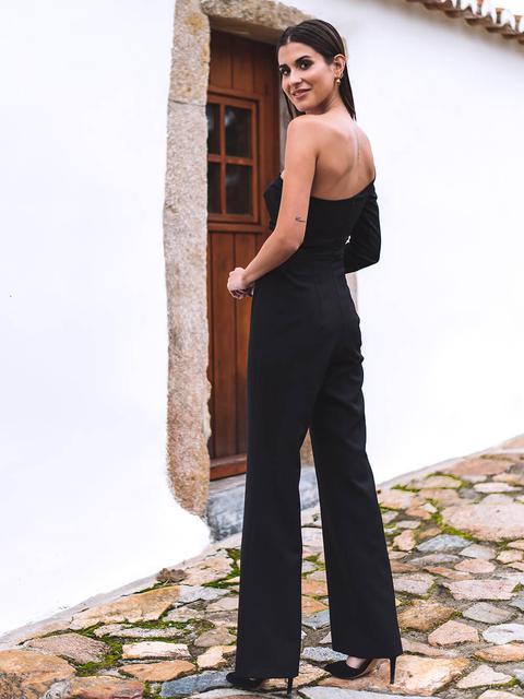 Black One Sleeve Jumpsuit