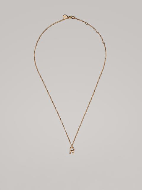 Collar Letra R Baño Oro de Massimo Dutti en 21 Buttons