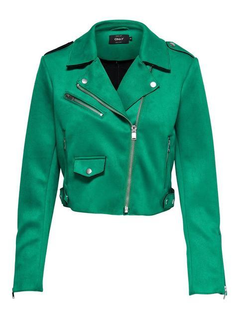 Kauf echt Outlet zu verkaufen baby Only Kurze Biker Jacke Damen Grün from ONLY on 21 Buttons