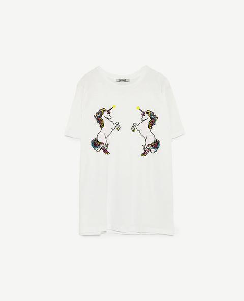 Camiseta Parche Unicornio