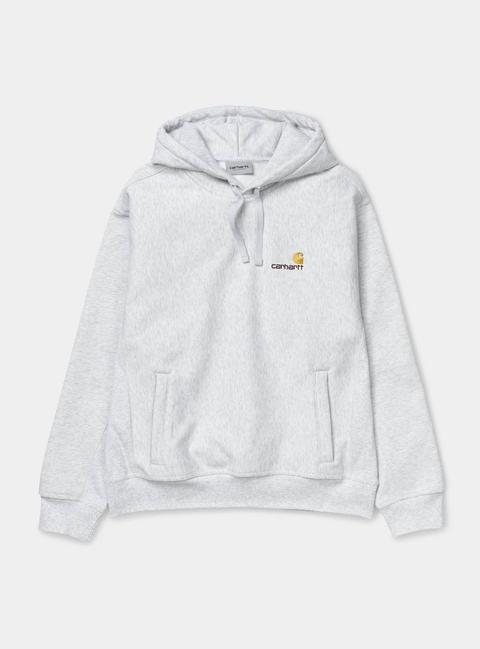 Hooded American Script Sweatshirt de Carhartt WIP en 21 Buttons