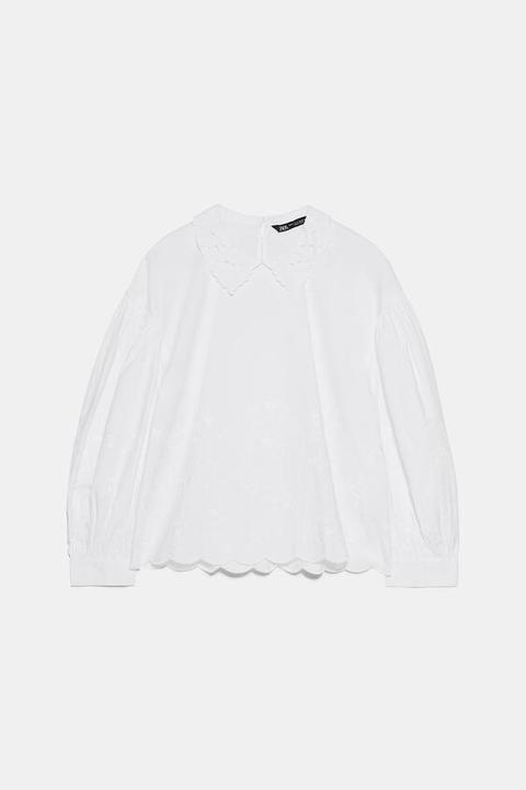 Camisa Popelín Bordados