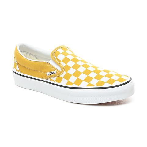 vans checkerboard yellow