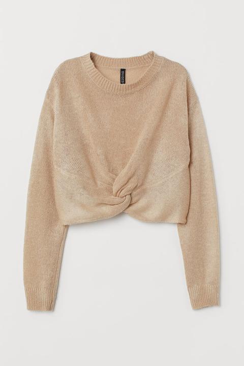 H & M - Knitted Jumper - Beige
