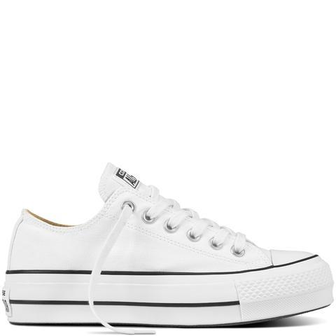 Converse Chuck Taylor All Star Platform Canvas Low Top White, Black de Converse en 21 Buttons
