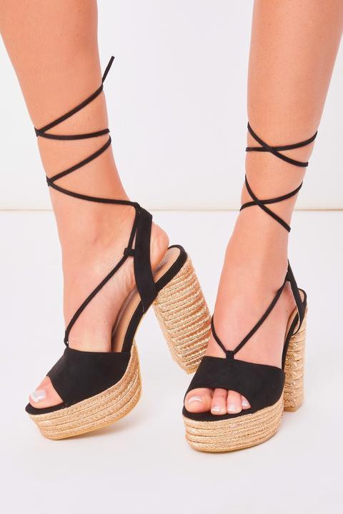 Amber Turner Black Braided Rope Block