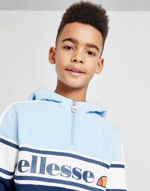 New Ellesse Tenia 1//4 Zip Fleece Hoodie Junior