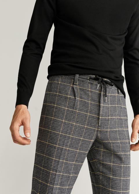 Pantalón Cuadros Pinzas