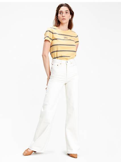 Ribcage Wide Leg Jeans Neutre / Icy Ecru - Rc de Levi's en 21 Buttons