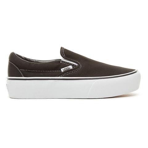Vans Zapatillas De Plataforma Classic Slip-on (black) Mujer Negro de Vans en 21 Buttons