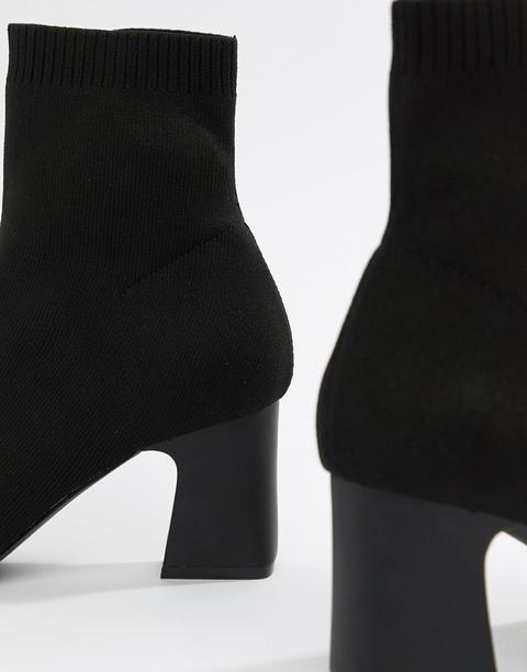 Raid Shawn Black Knitted Stretch Sock