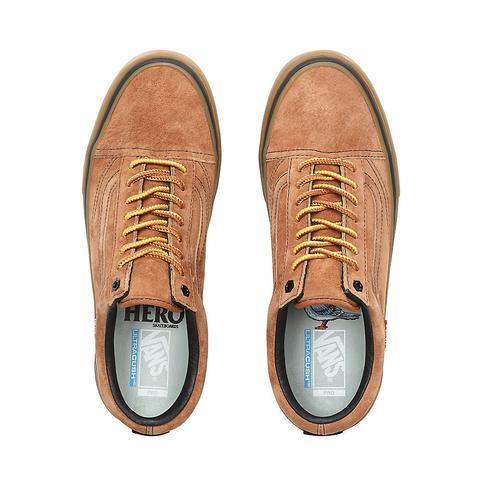 zapatillas vans hombre marron