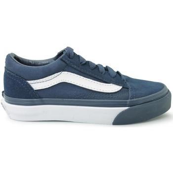 Vans Zapatos Bajos Oldskool Azul Para Niño