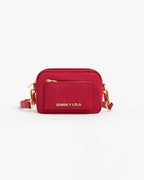 Bolso Bandolera S Bolsillo Rojo de Bimba Y Lola en 21 Buttons