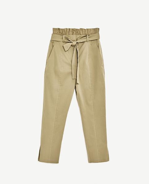 Pantalón Cinturilla Volante