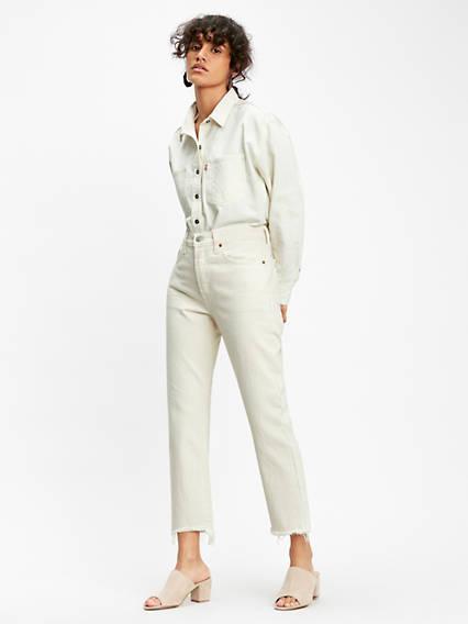 501® Crop Jeans Neutre / Neutral Ground de Levi's en 21 Buttons