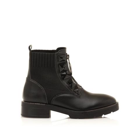 Botín Plano Colim Negro de Sixtyseven Shoes en 21 Buttons