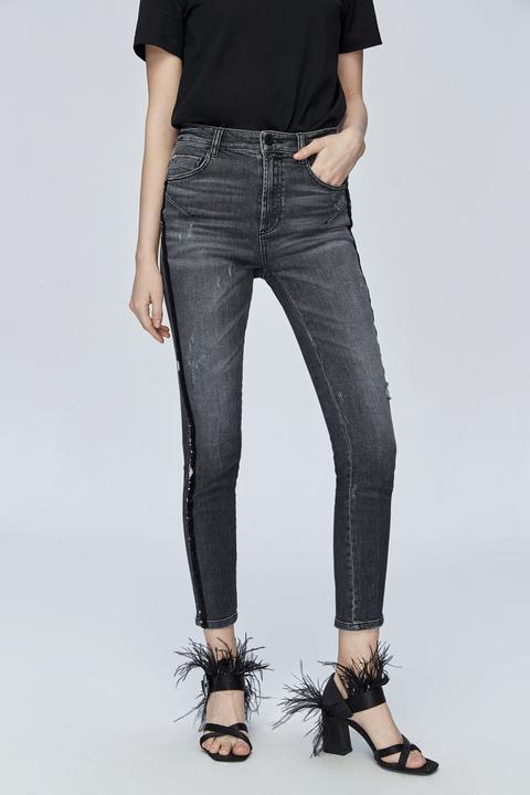 bene attraente e resistente selezione premium Jeans Neri Vita Alta Donna - Nelson Trousers 28
