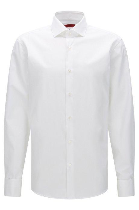 Camicia Regular Fit In Popeline Di Cotone Hugo Uomo