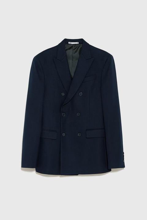 Blazer Cruzada Estructura de Zara en 21 Buttons