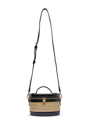 Womens August Black Basket Weave Bag, Black