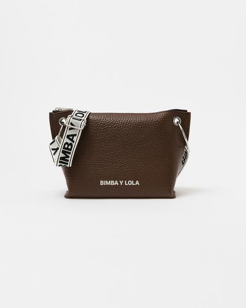 Bolso Bandolera Trapecio M Piel Chocolate de Bimba Y Lola en 21 Buttons