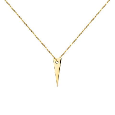 Colgante Triángulo Plata Recubierta Oro de Aristocrazy en 21 Buttons