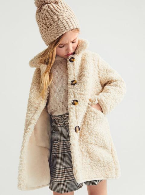 Abrigo Doble Faz Borreguillo de Zara en 21 Buttons