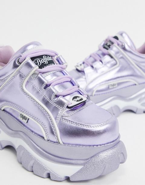 Buffalo London - Lowtop - Baskets - Lilas Métallisé-violet