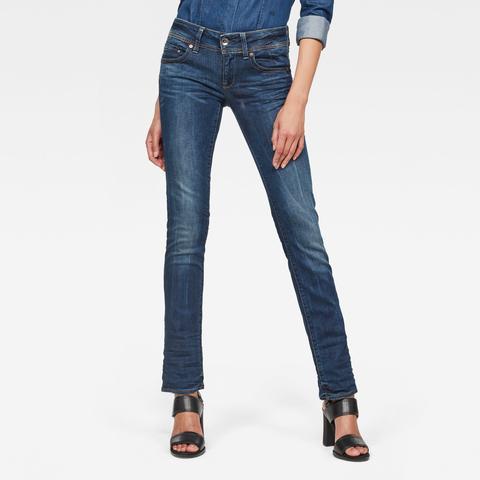Midge Saddle Straight Jeans de G-STAR en 21 Buttons