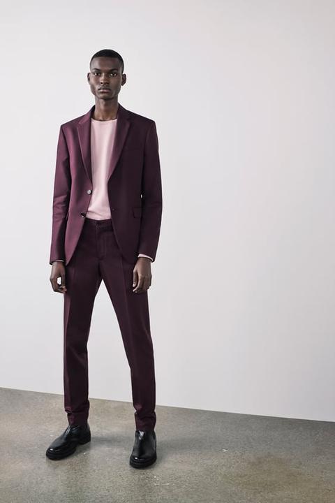 Blazer Conjunto Estructura Comfort Knit de Zara en 21 Buttons