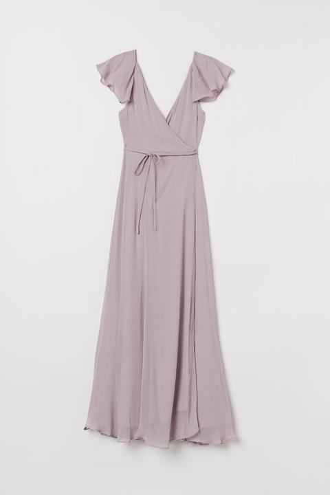 Vestido Cruzado Largo - Púrpura de H&M en 21 Buttons