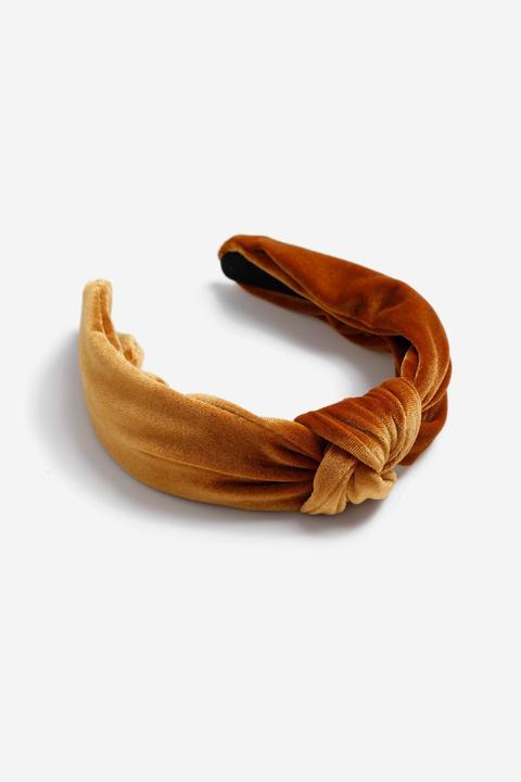 Womens **brown Velvet Headband - Brown, Brown