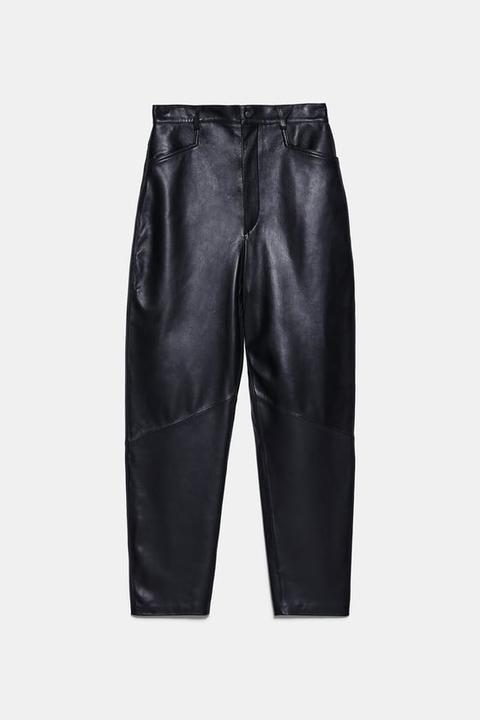 Pantalón Piel de Zara en 21 Buttons