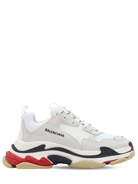 """Sneakers """"triple S"""" De Ante, Piel Y Malla"""