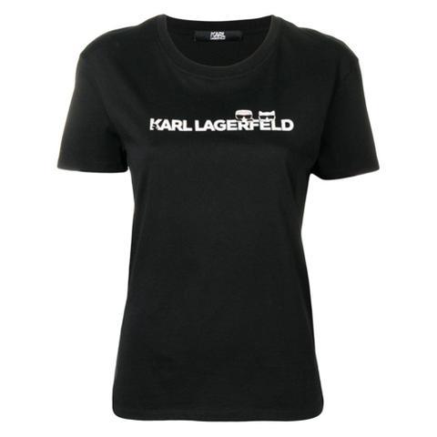 Karl Lagerfeld Camiseta Ikonik Con Logo - Negro de Farfetch en 21 Buttons