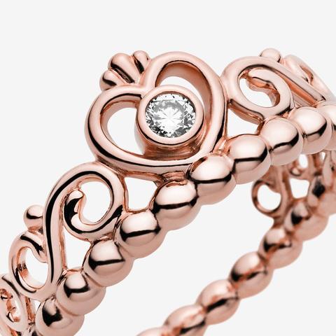 pandora anello principessa rosa