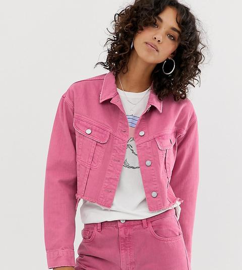 denim co giacca jeans rosa