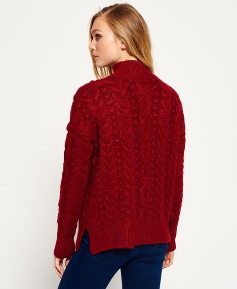 Suéter De Punto De Trenzas Kiki
