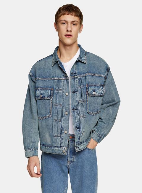 Mens Levi's Blue Denim Trucker Jacket, Blue
