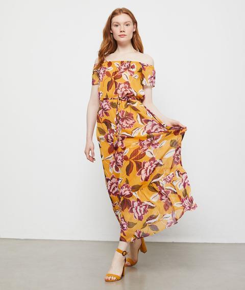 vendu dans le monde entier nuances de jolie et colorée Robe Bustier À Imprimé Fleuri - Clara - 36 - Jaune - Femme - Etam from Etam  on 21 Buttons