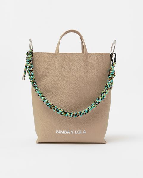 Bolso Shopper Vertical L Piel Piedra de Bimba Y Lola en 21 Buttons