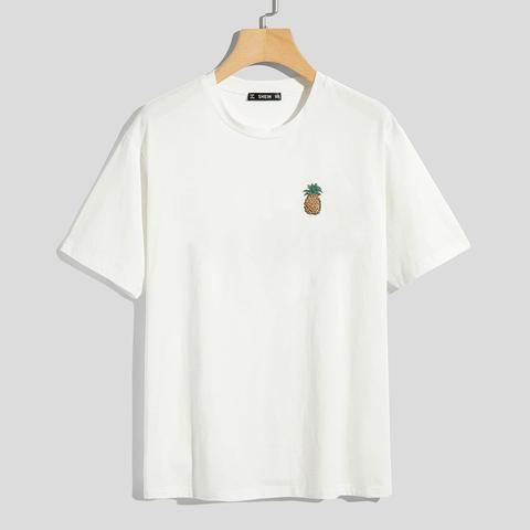T Shirt Mit Karikatur Muster Und Kurzen Armeln