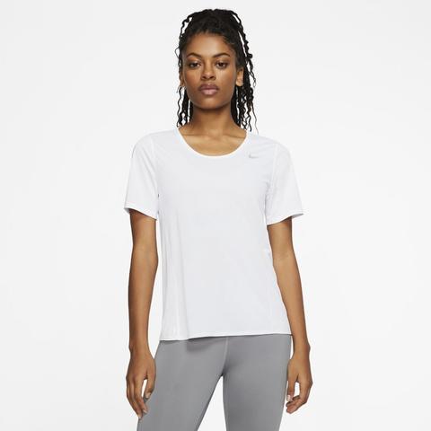 Nike City Sleek Camiseta De Running De Manga Corta - Mujer - Blanco