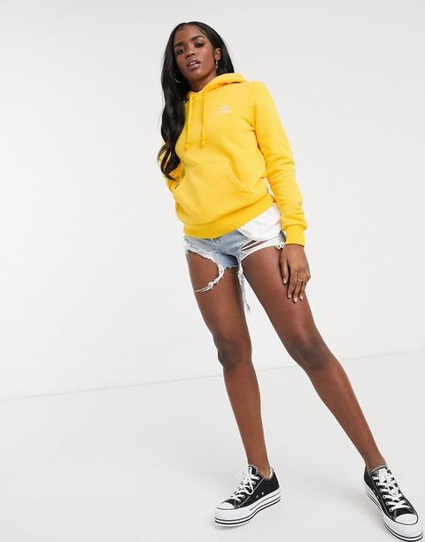 Sudadera Amarilla Con Capucha Y Logo De Chevron Con Estrella De Converse-amarillo de ASOS en 21 Buttons
