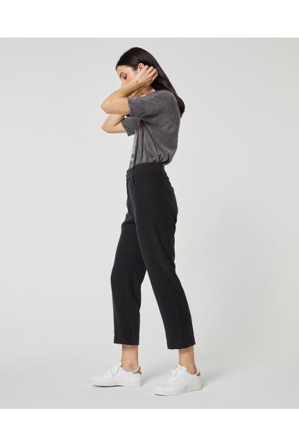 Pantalón Tencel Negro de systemaction en 21 Buttons