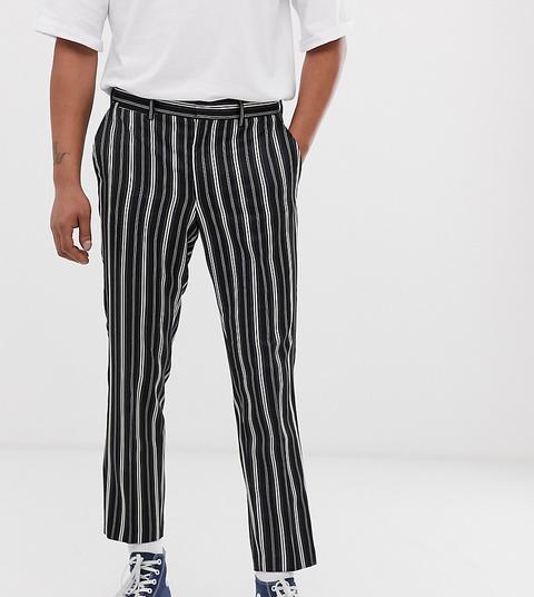Pantalones Negros A Rayas De Heart & Dagger